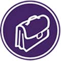 briefcase icon color purple