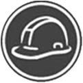 grey construction hat icon